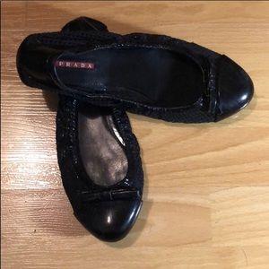 Prada black flats